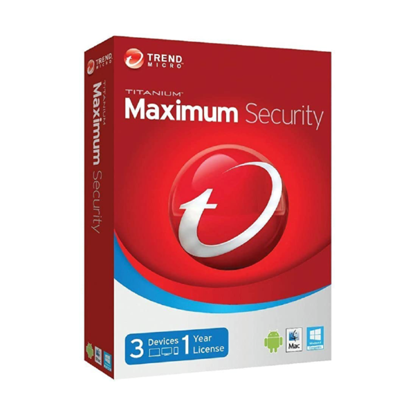Trend Micro Maximum Security 2021 3 Devices 1 Year