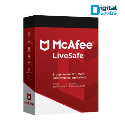 McAfee LiveSafe 2021 Unlimited Devices 1 Year Sri Lanka