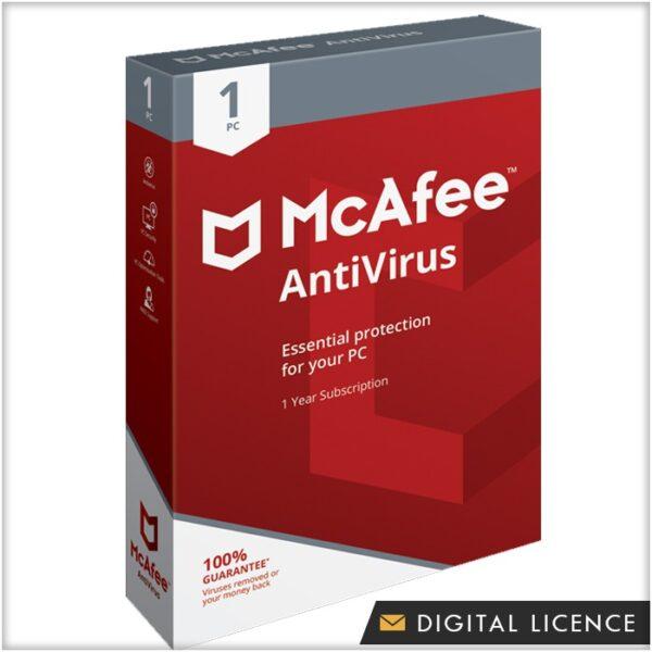 McAfee Antivirus 1 Device 1 Year